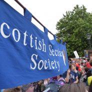 Scottish Secular Society block at Glasgow Pride