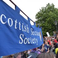 Scottish Secular Society block at Glasgow Pride