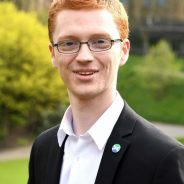 Ross Greer with the Scottish Secular Society